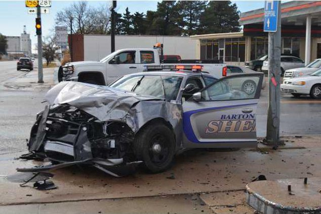 Barton County sheriff's vehicle involved in accident - GREAT