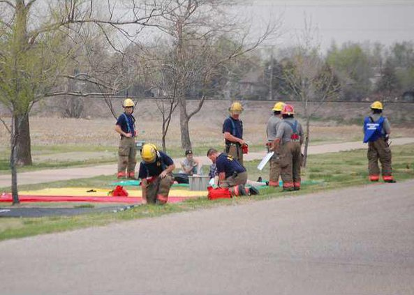 new deh mock disaster drill pic
