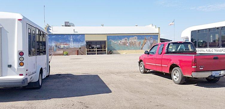 senior center parking lot