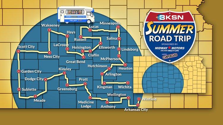map KSN road trip 2019