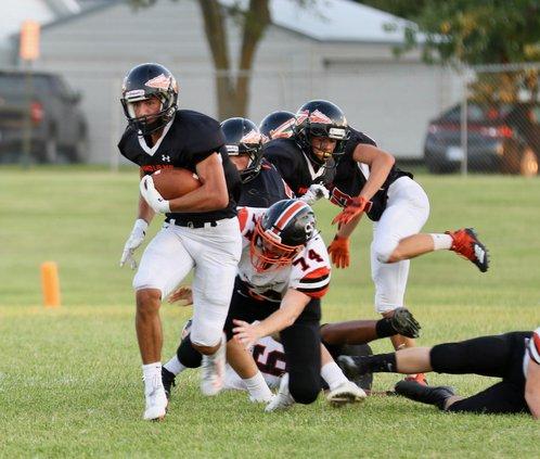 Larned Mason Perez breaks tackles