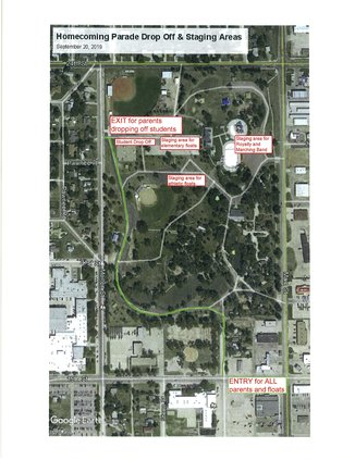 GBHS Homecoming parade map