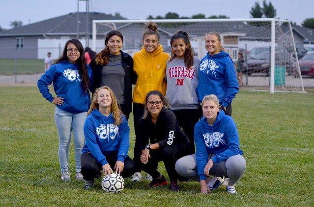 BCC girls soccer team volunteer