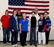 Peggy Haake VFW visit 2019